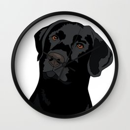 Duke the black lab Wall Clock