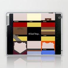 All Good Things - square Minimalist Star Trek TNG The Next Generation 1701 D  startrek  Trektangles Laptop & iPad Skin