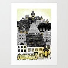 Midnight in Sibiu Art Print