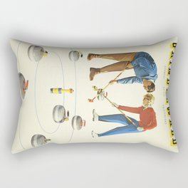 Grindelwald, Swiss Vintage Travel poster Rectangular Pillow