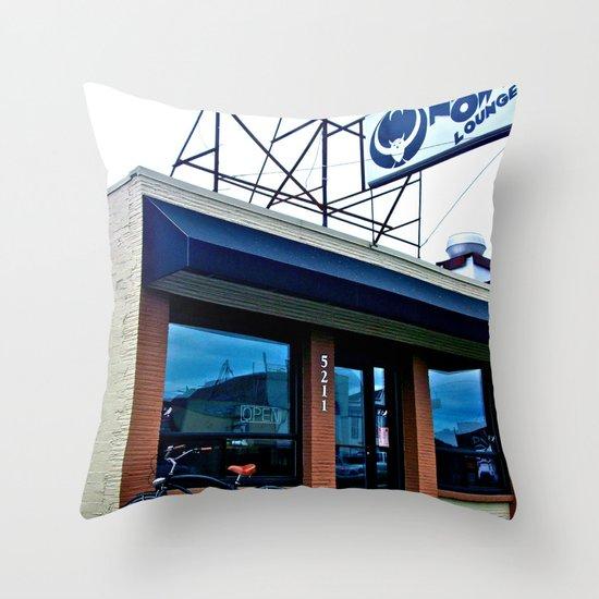 Tacoma's Night Owl Throw Pillow