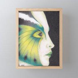 Butterfly Girl #3 Framed Mini Art Print