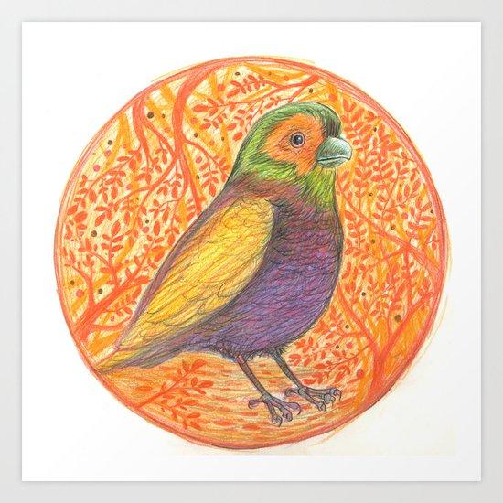 Bird in a Thicket Art Print