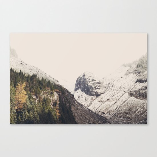 Winter Mountain Morning Canvas Print
