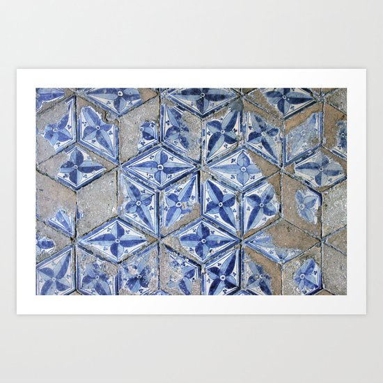 Tiling with pattern Art Print