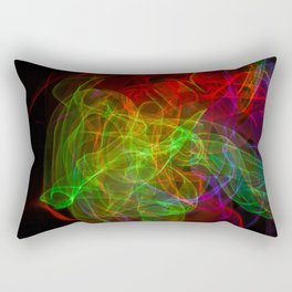 Abstract multicolored smoke. Soft texture of waves of various colors Rectangular Pillow