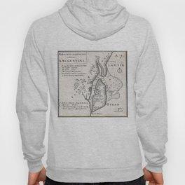 Vintage Map of St. Augustine Florida (1737) Hoody