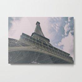 Eiffel Tower in Paris, France. Landmark in France Metal Print
