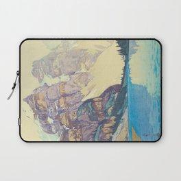 Moraine Lake (Moren) Hiroshi Yoshida Japanese Woodblock Print Laptop Sleeve