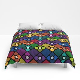 Colorful Floral Pattern Comforters