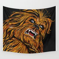 chewbacca Wall Tapestries featuring Chewbacca by Laura-A