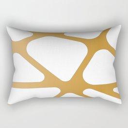 Abstract Golden lines Rectangular Pillow