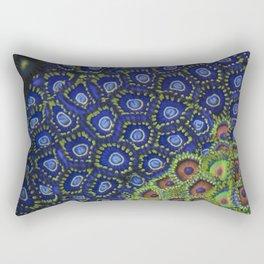 "Macro of Coral Zoanthus ""Blue Hornet"" Rectangular Pillow"