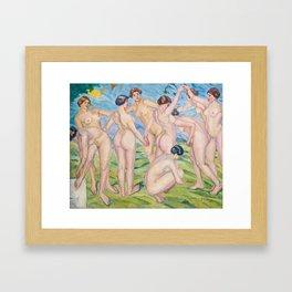 Francisco Iturrino - Nudes Framed Art Print