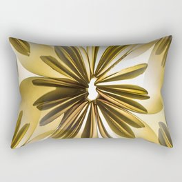 Origami Flowers Golden Tones #decor #society6 #buyart Rectangular Pillow