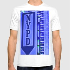 NYPD Mens Fitted Tee MEDIUM White