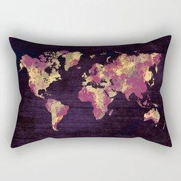 world map 86 red yellow Rectangular Pillow