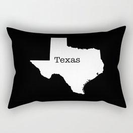 Texas State outline  Rectangular Pillow