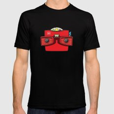 #42 Viewmaster Black MEDIUM Mens Fitted Tee