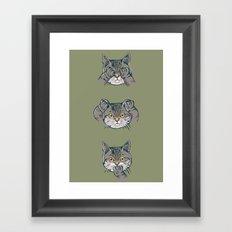 No Evil Cat Framed Art Print