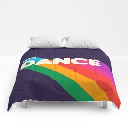 RAINBOW DANCE TYPOGRAPHY- let's dance Comforters