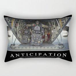 Anticipation: Inspirational Quote and Motivational Poster Rectangular Pillow