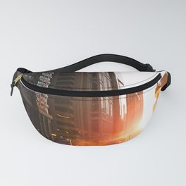 Sunset in the city Fanny Pack