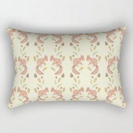 Red squirrel pattern Rectangular Pillow