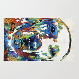 Labrador Retriever Art - Play With Me - By Sharon Cummings Rug