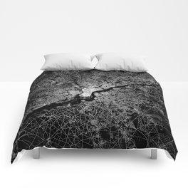 philadelphia map Comforters