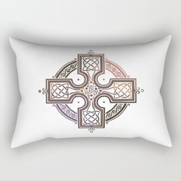 St. Patrick's Day Celtic Red Cross Rectangular Pillow