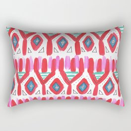 Scandi Boho Pattern - Red Rectangular Pillow