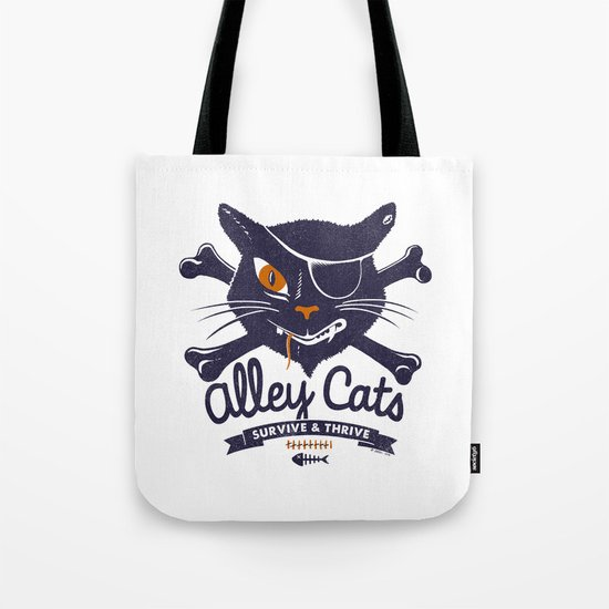 Alley Cats Tote Bag