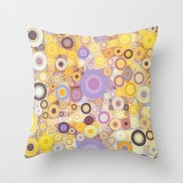 Purple Yellow Washing Machine Cycle Throw Pillow