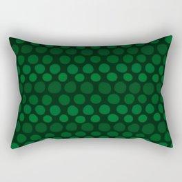 Emerald Green Subtle Gradient Dots Rectangular Pillow