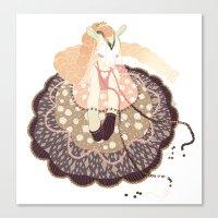 doll Canvas Prints featuring Doll by Jillian Reece