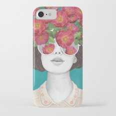 The optimist // rose tinted glasses iPhone 7 Slim Case