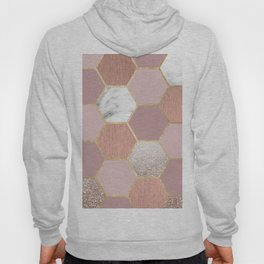 Indulgent desires rose gold marble Hoody
