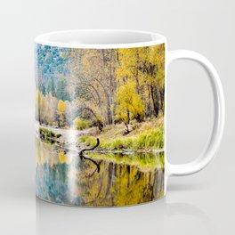 Yosemite Fall Color On The Merced River  11-1-18 Coffee Mug