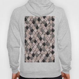 Rose Gold Blush Mermaid Princess Glitter Scales #1 #shiny #decor #art #society6 Hoody