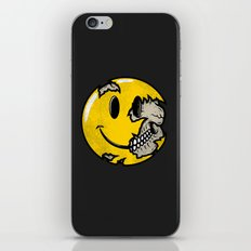 Smiley face skull iPhone & iPod Skin