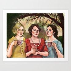 The Crawley Sisters Art Print