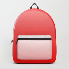 White and Red Gradient 021 Backpack