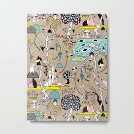 Magical Garden (Beige) Metal Print