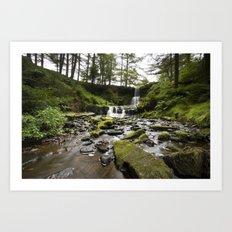 Blaen-y-glyn Waterfall 3 Art Print