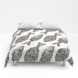 Indonesian Fish Duo – Black Palette Comforters