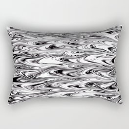 Wavy Wood Grain Texture Rectangular Pillow