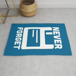 Never Forget Floppy Disk Geek Quote Rug