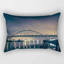 Fremont Bridge at Night Rectangular Pillow