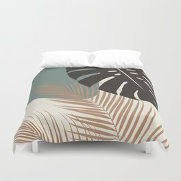 Minimal Monstera Palm Finesse #1 #tropical #decor #art #society6 Duvet Cover
